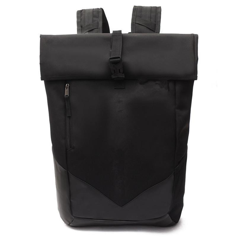 Mochila casual del adolescente bolsa Hombres Mujeres acampar Estudiantes Adultos mochilas para portátiles a prueba de agua al aire libre Viaje Bolsas Negro