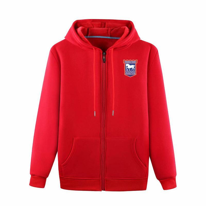 2020 ipswich FuAll-Zip football Veste à capuche Veste de survêtement de football à capuche Pull veste football Sweatshirt manteau Vestes d'homme
