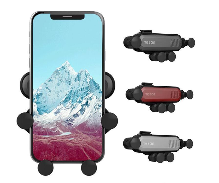 هذا هو واحد تنفيس الهواء جبل المحمول الذكية حامل الهاتف السيارات الجاذبية الربط حزمة هاندي السيارات قابل للسحب قفل الاستشعار القوس في مجال تجارة التجزئة
