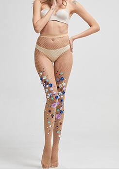 Moda sensuais de flores meias recreativas meias arrastão criativas meias flores senhoras sexy lingerie fishnet pantyhose1