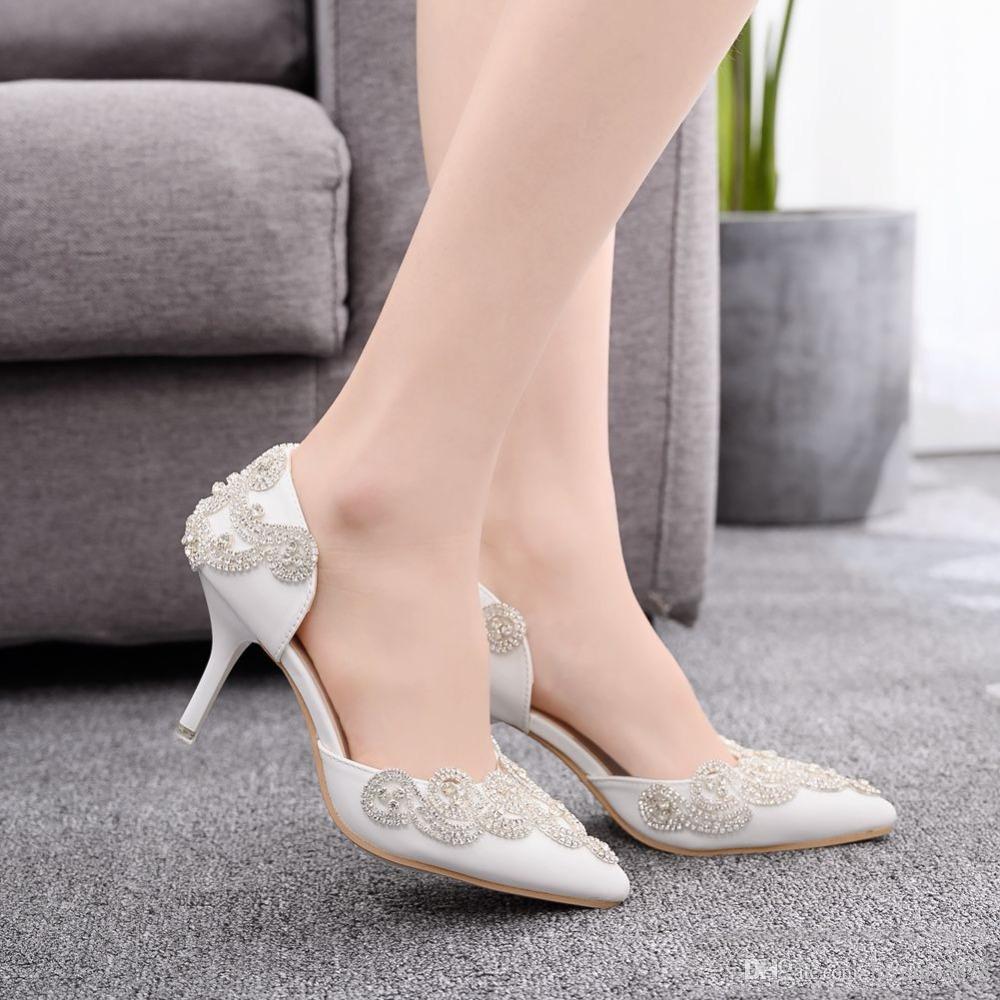 Zapatos cristalinos de la boda manera de las mujeres talones finos zapatos de las mujeres de moda para fiestas de verano sandalias de los tacones altos