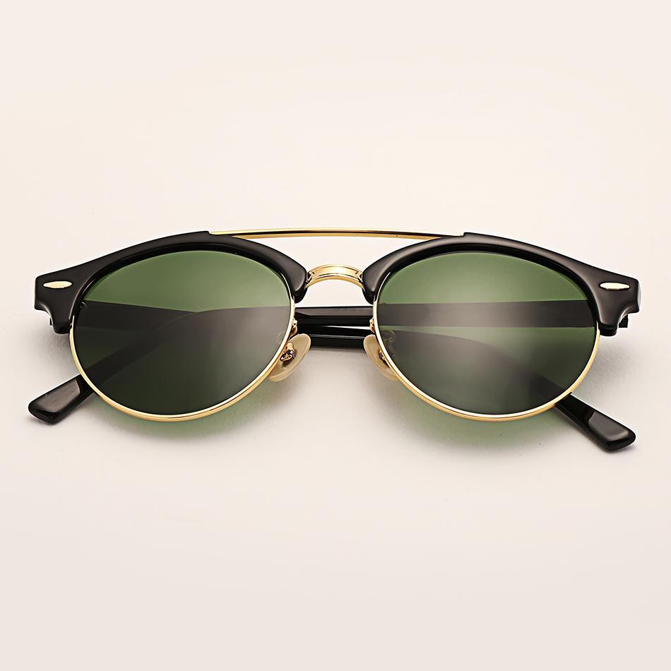 Venta al por mayor 4346 club gafas de sol mujeres 51mm TR marco lente de cristal espejo gafas de sol redondas gafas de sol Gafas UV400
