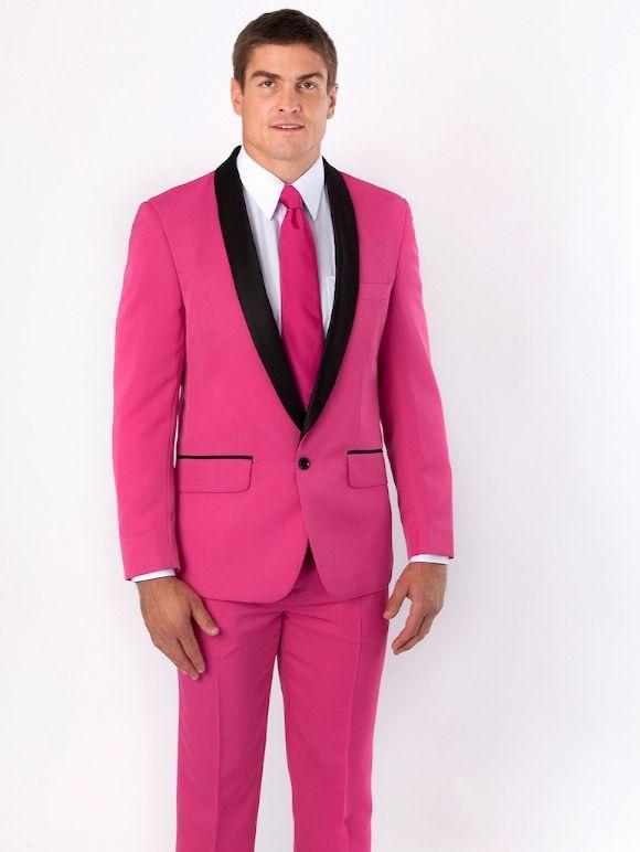 Custom Made Groomsmen Shawl Lapel Groom Tuxedos Pink Men Suits Wedding/Prom/Dinner Best Man Blazer ( Jacket+Pants+Tie ) W461