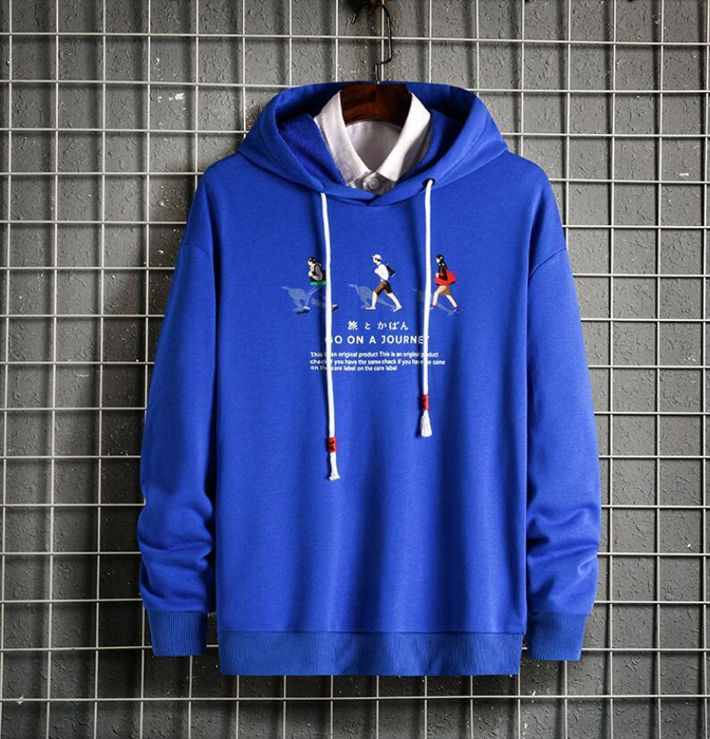 New Hip Hop Men Sportswear Hooded Sweatshirts Mens Pullover Hoodies Male Fashion Casual Hoodie Sport Suit Blend Plus Size Sportwear TOPS