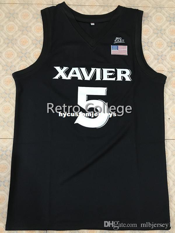 # 5 Trevon Bluiett xavier Colleg Retro costurado Sewn basquete jerseys Personalizar qualquer número tamanho e nome do jogador XS-6XL colete Jerseys Ncaa
