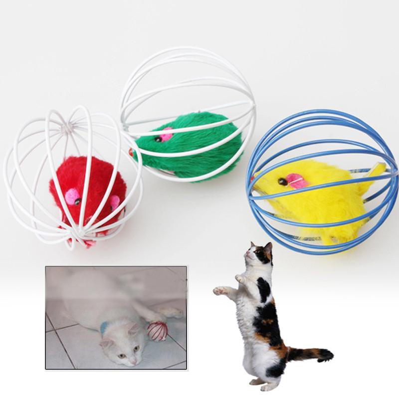 1 stück Katzenspielzeug Hohlkugel Feder Maus Spielzeug Für Katzen Kätzchen Spielen Lustige Mäuse Maus Spielzeug Heimtiere Produkte