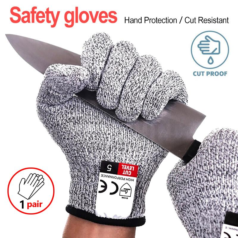 Safety Cut Proof Stab Resistant Butcher Gloves Stainless Steel Wire Metal Mesh