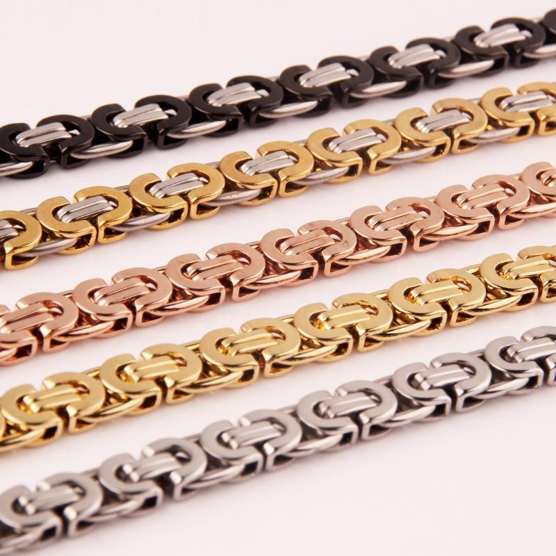 """NEW 7-40/"""" 18K Gold Womens Mens 6mm Ball Chain Necklace Stainless Steel Jewelry"""