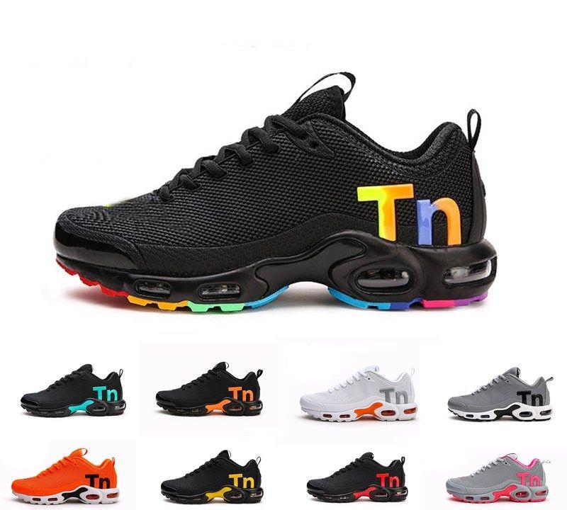 Yeni Mercurial artı TN 2019 erkekler tasarımcı açık koşu ayakkabıları spor KPU Homme erkekler Zapatillas Siyah Kırmızı Mujer eğitmenler sneakers boyutu 36-47