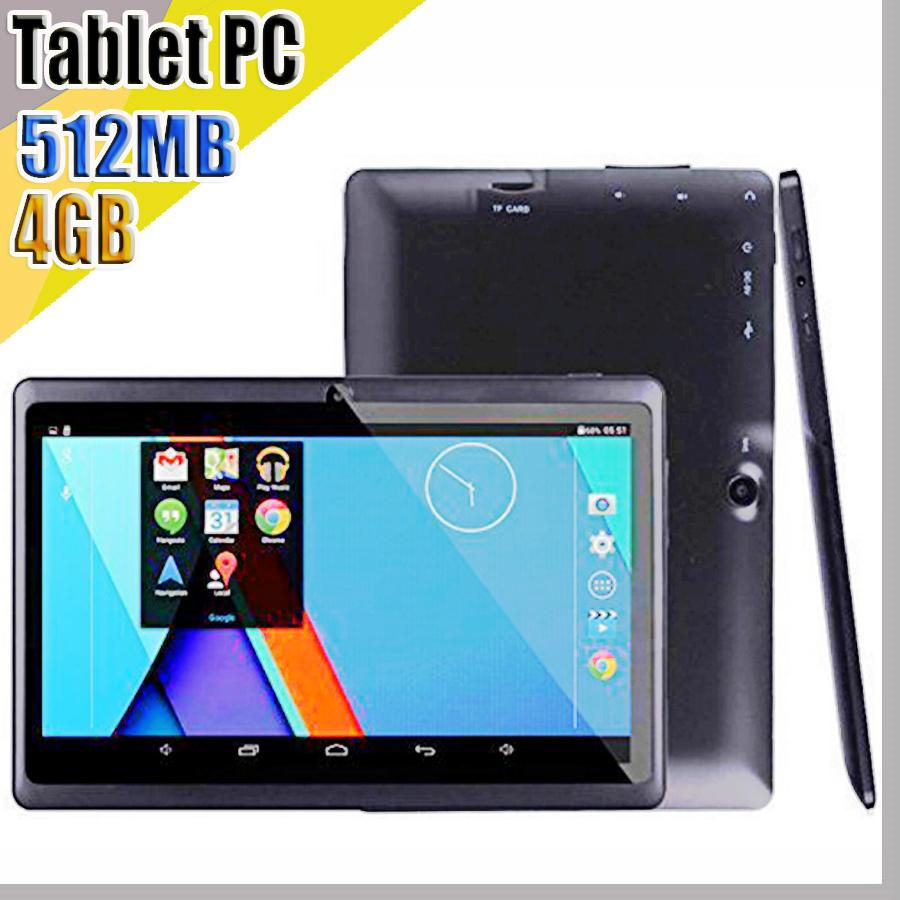 848 2018 7 inch Capacitive Allwinner A33 Quad Core Android 4.4 dual camera Tablet PC 4GB 512MB WiFi EPAD Youtube Facebook Google A-7PB