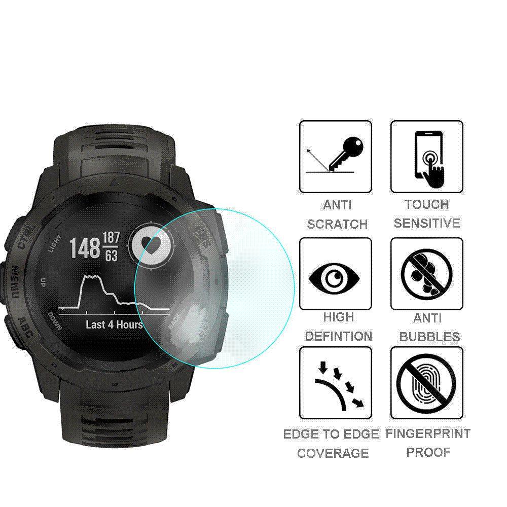 Screen Protector 2018 for Garmin Instinct 1PC 2PCS 3D 9H Hardness Ultra Slim Tempered Glass Screen Protector 18Nov2