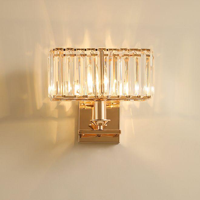 Neue europäische moderne Kristallwandlampen dekorative Gold Wand Wand Leuchte leuchtet Leuchte Licht für Nacht Veranda Flur führte Halterung