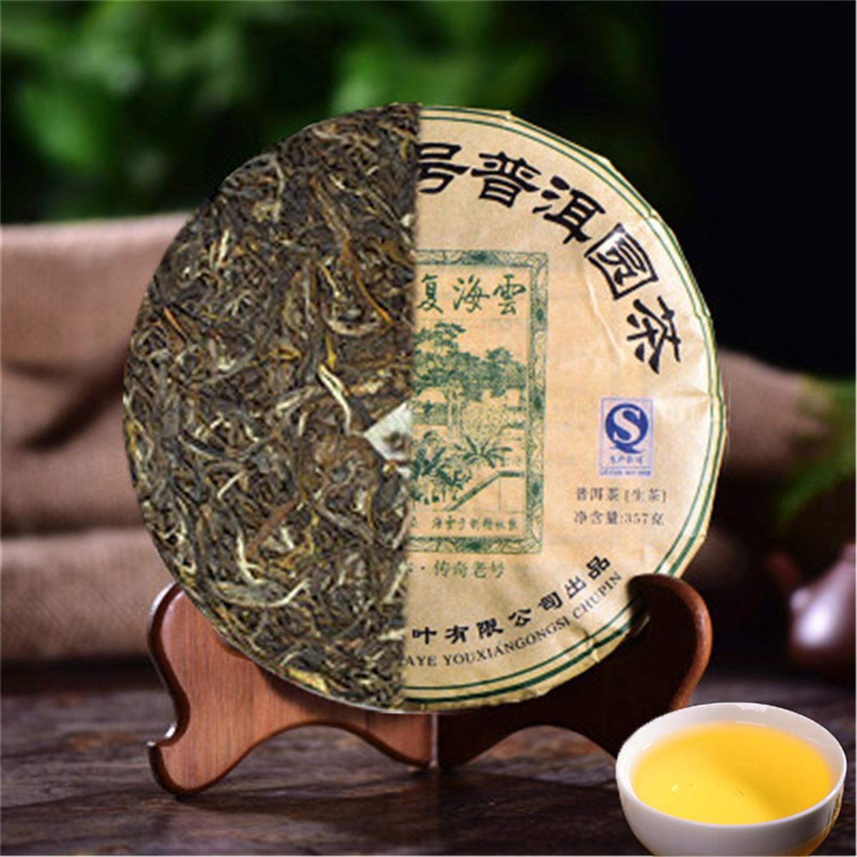Yunnan Top-357 g de qualité Raw Puer ronde Puerh naturel bio Thé Gâteau vieil arbre vert Puer Promotion alimentaire