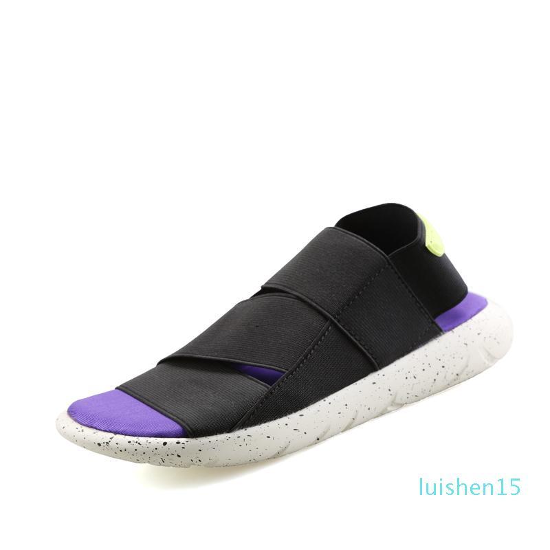 Sandales hommes Wedge Sandales d'été homme Pantoufles élastique en tissu confortable Homme plage Couple Chaussures Casual léger 2019 L15