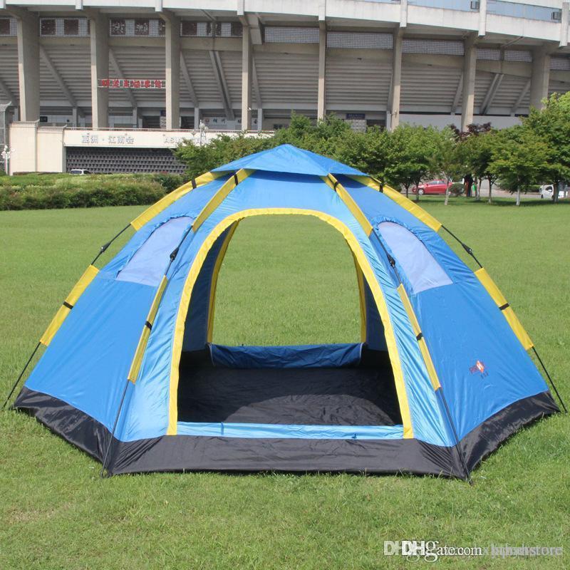 All'ingrosso 4 stagioni Upgraded 5-8 persona 305 * 240 * 145 centimetri di viaggio tenda singolo strato tende Camouflage campeggio Wigwam trekking tenda rapida automatica