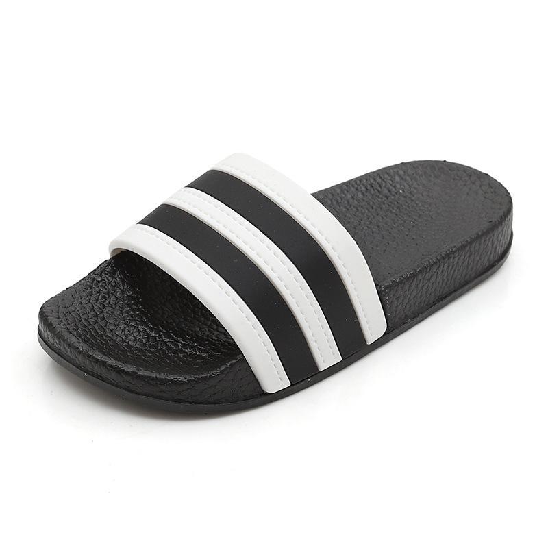 Moda Çizgili Çocuk Terlik Bebek Kız Erkek Barefoot Çocuklar Skid Direnç Ev Ayakkabı Siyah-Sole Mix-Renkleri BEAC Ayakkabı