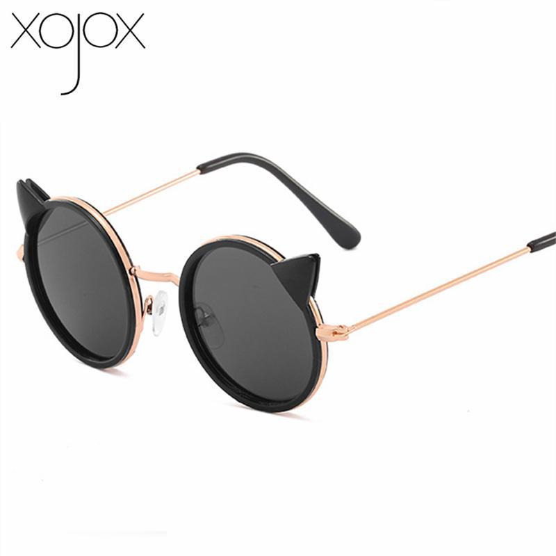 XojoX gato del oído gafas de sol para niños Niños Grils linda de gafas redondas para niños Eyewear UV400 gafas al aire libre
