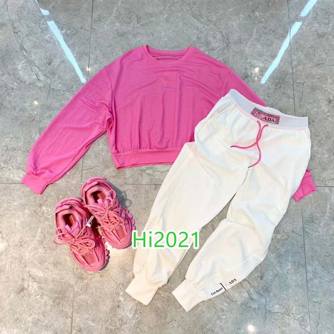 하이 엔드 여성 여자 캐주얼 셔츠 정장 편지 짧은 t 셔츠 풀오버 티 + 같은 레깅스 바지 2020 패션 고급스러운 디자인 느슨한 세트를 인쇄