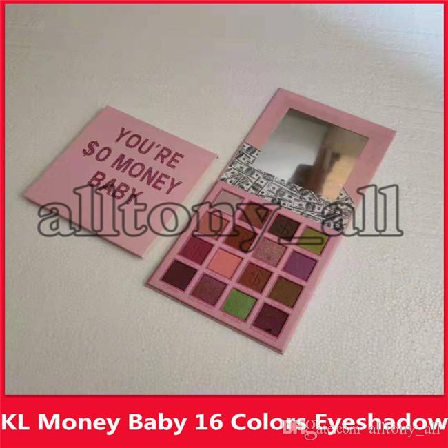 KL Marque Vous êtes $ 0 argent bébé yeux Maquillage 16 couleurs Shimmer Matte Ombre à paupières Make Up Palette Ombre à paupières de fard à paupières