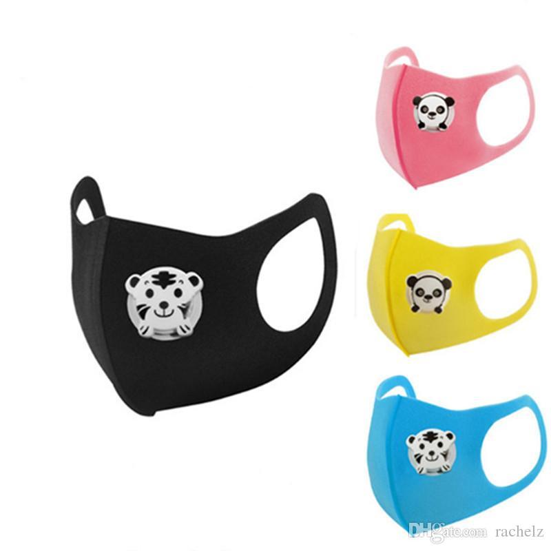 Toptan çocuk ev koruyucu maskeler nefes 0027 toz geçirmez ventilini geri dönüştürülebilir güneş kremi düz renk Yıkanabilir süngerle
