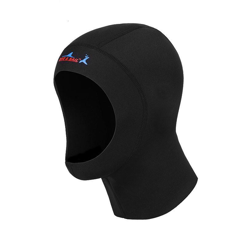 깊은 유지 따뜻한 수중 초슬림 1mm 네오프렌 스쿠버 다이빙 캡 후드 장비 스노클링 모자는 머리의 열 보전 넥타이