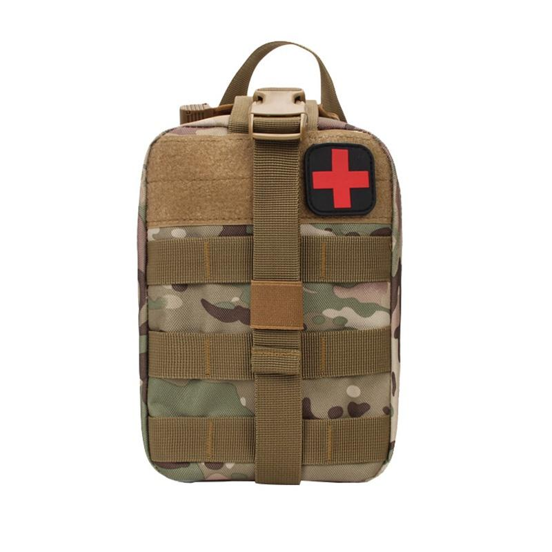 Pacote Survival Outdoor Utility Tactical Pouch Medical First Aid Kit remendo Bag Molle Cobertura Médica Hunting Emergência Nova