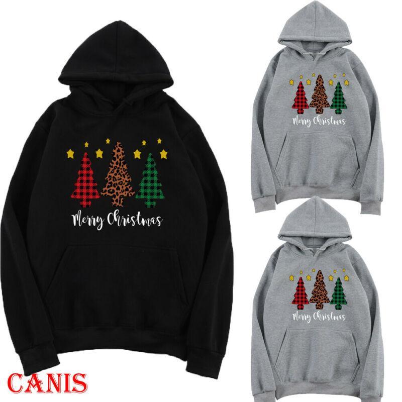 Женщины мужчины толстовки свитер Рождество Рождественская елка толстовка зимний пуловер перемычка