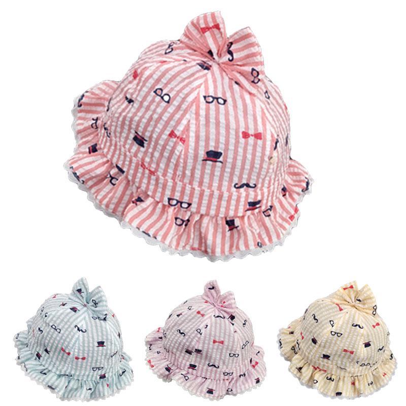 Sweet Lace Girls Hat Baby Bucket Cap Summer Child Fisherman Hat For Girl Newborn Photography Props Kids Sun Casquette Enfant