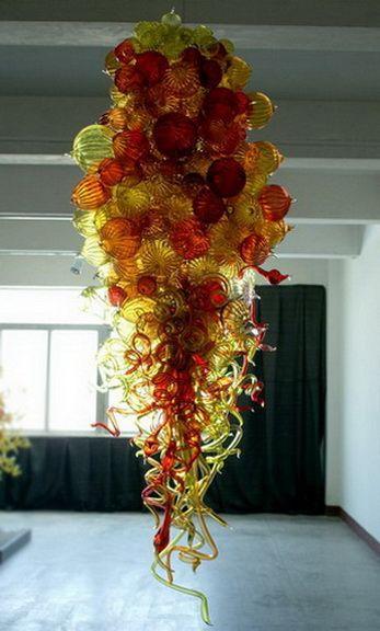 China fabricante Fanstic interior lámpara colgante hecho a mano soplado burbuja de cristal de la lámpara LED de ahorro de la lámpara para la decoración