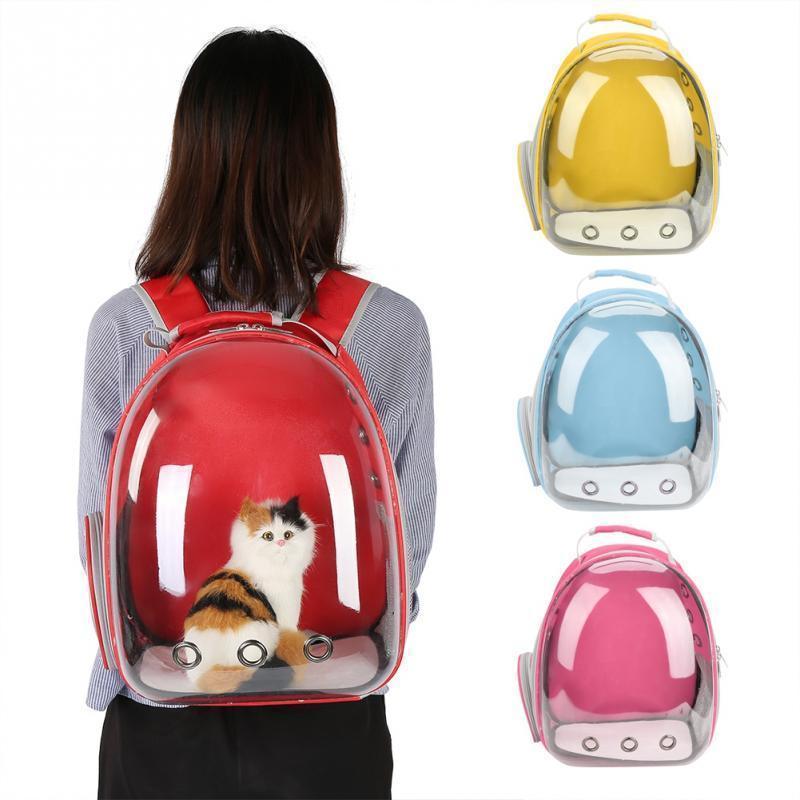 Портативный Кошачий Мешок Pet Cat Carrier Bag Прозрачная Капсула Дышащий Путешествия Попугай Кошка Собака Птица Рюкзак Котенок Переноски Клетки