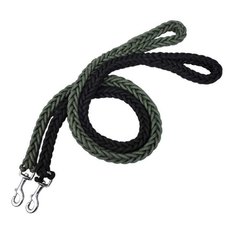 L / XL Сверхпрочной Поводок нейлон Грубого Dog Army Green Canvas Двухрядные Регулируемый ошейник для средних собак Больших Supplies