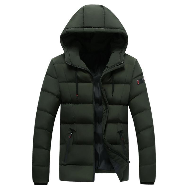 Мужские пуховые парки зимний ветер расстроили хлопок мягкая куртка пальто белая утка досуг мужчина с капюшоном