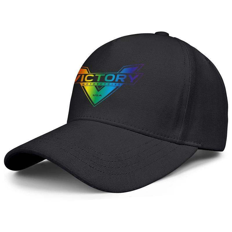 Victory Motorcycle USA Gay pride rainbow Uomini Donne regolabile sfera Cappelli all'aperto Golf Caps Vintage cross country vecchio Flash oro