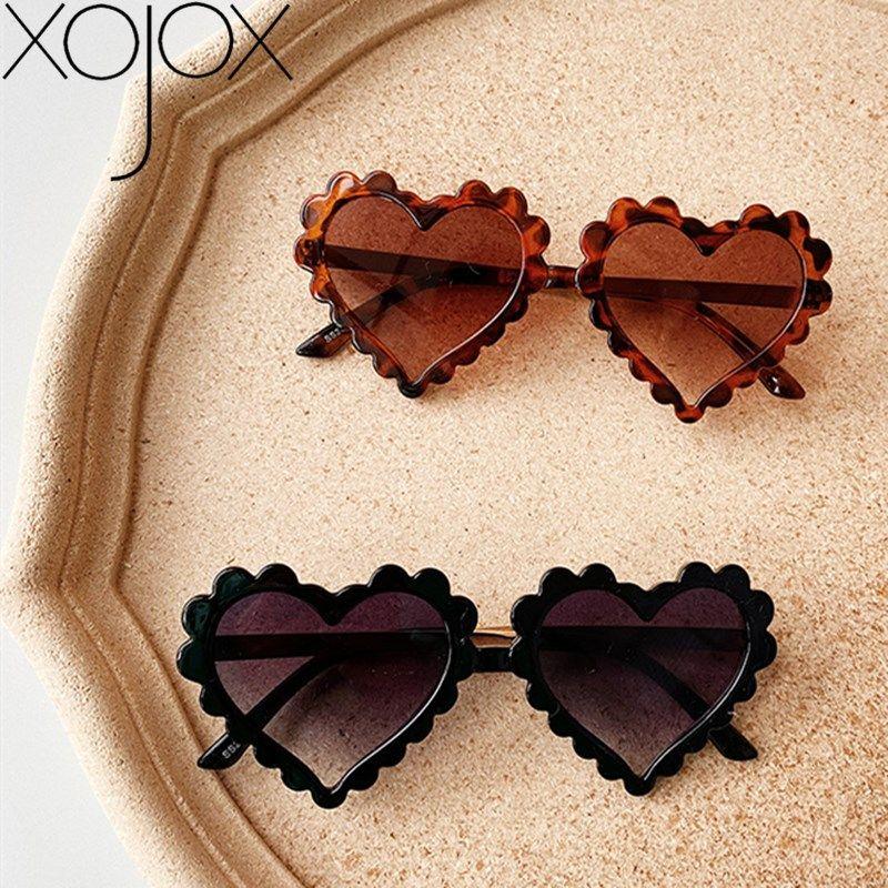 XojoX 2020 Nouveau style en forme de coeur Lunettes de soleil pour enfants Lunettes de soleil bébé Garçons Filles Amour modèles Lunettes Tide lunettes de Shade enfants