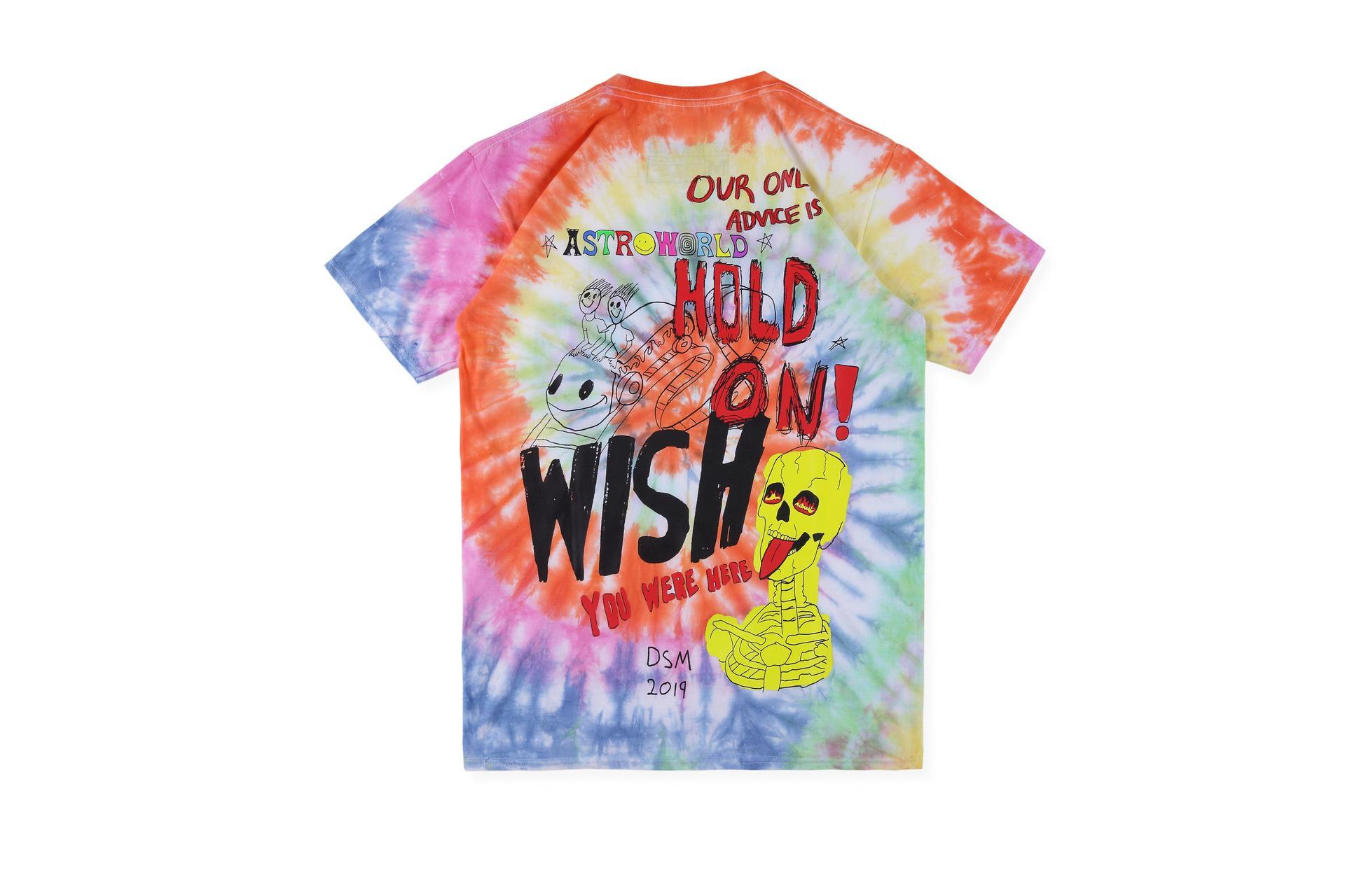 TS x DOVER étoile T modèles de coopération graffitis peints tie-dye T-shirt Terrif Hotest vendeur