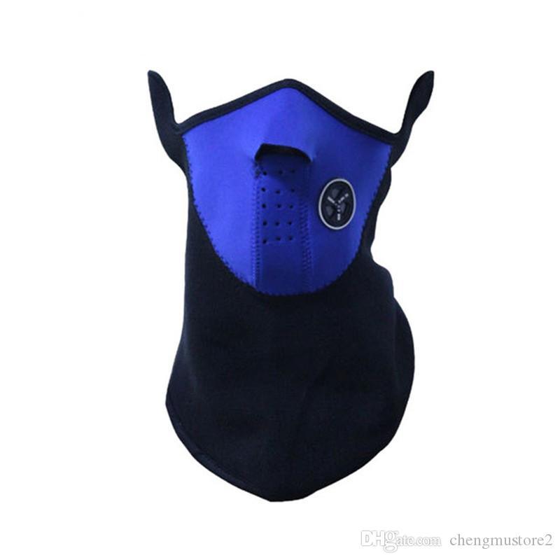 Demi-masque visage moto Couverture Polaire unisexe Ski neige Moto Vélo Hiver chaud cou Sports de plein air Écharpe Protection Maske