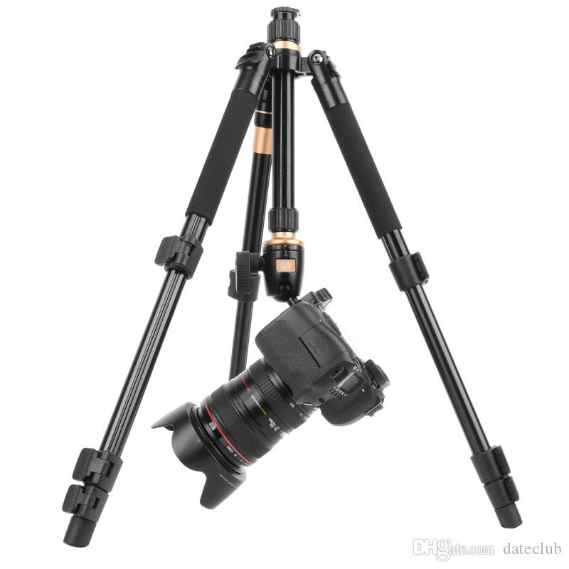 2019 New Professional Extendable QZSD Q555 55.5 Inches Aluminium Alloy Camera Video Tripod Monopod With Quick Release Plate Stand