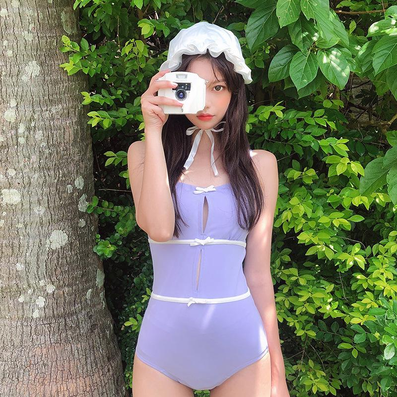 원피스 스포츠 수영복 수영 의상 수영복 융합 여자의 수영복 소녀 서스펜더 벨트 한국어 단단한 폴리 에스테르