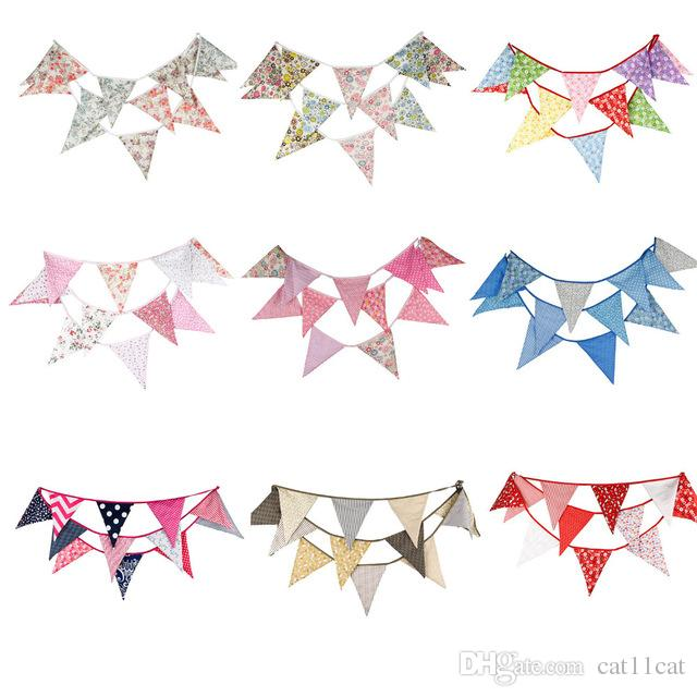 Wholesale Bigger flags Fabric Bunting Personality Wedding Birthday Party Decoration Indian tent Decoration Garden Garland