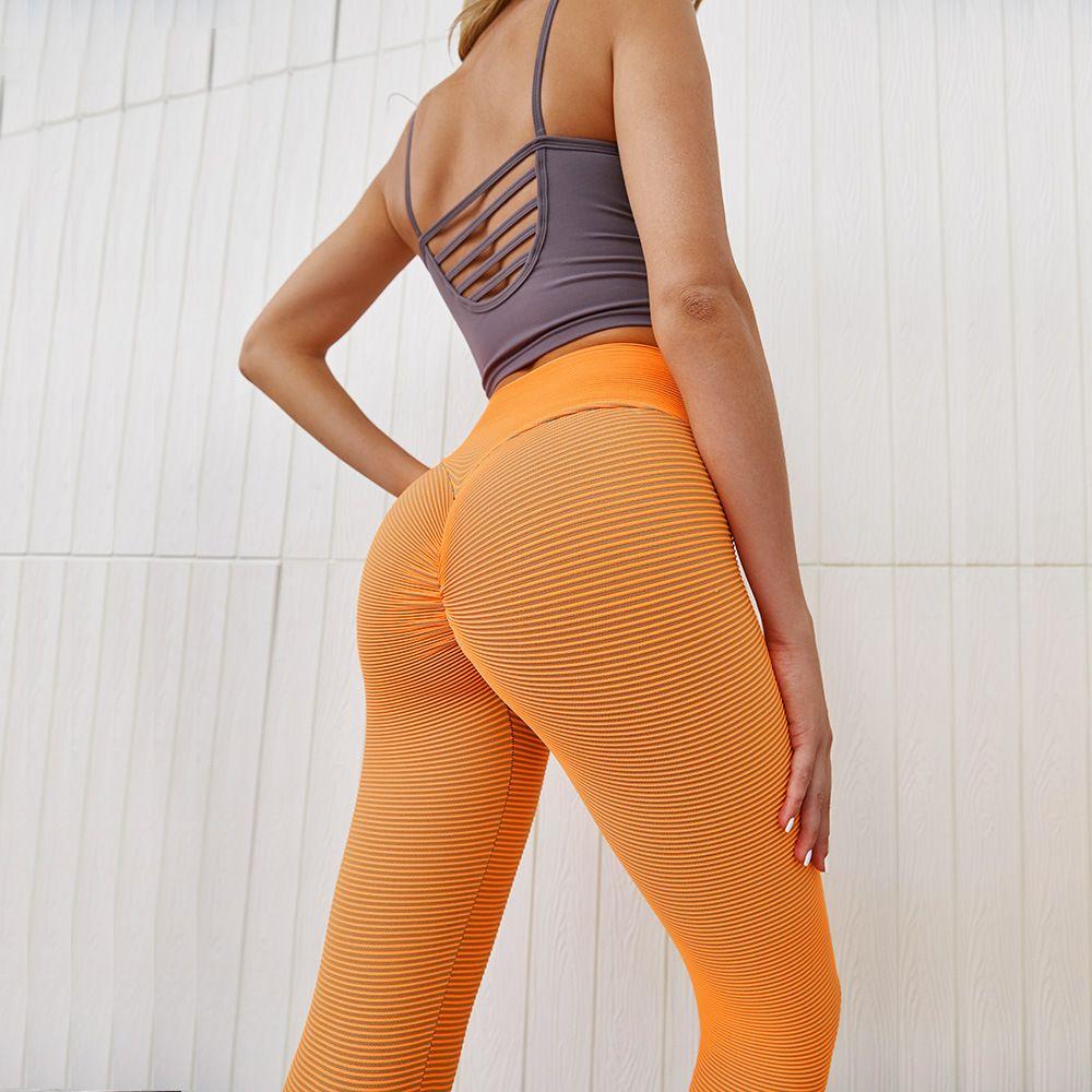 Sexy Athletic Fitness Leggings Women Stretchy High Waist Gym Training Yoga Pants Wear Elastic Slim Workout Push Up Sport Running