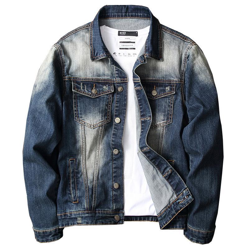 Jaquetas masculinas Vrokino Marca 2021 Primavera e Outono estilo de moda de alta qualidade jaqueta jeans juventude multi cores