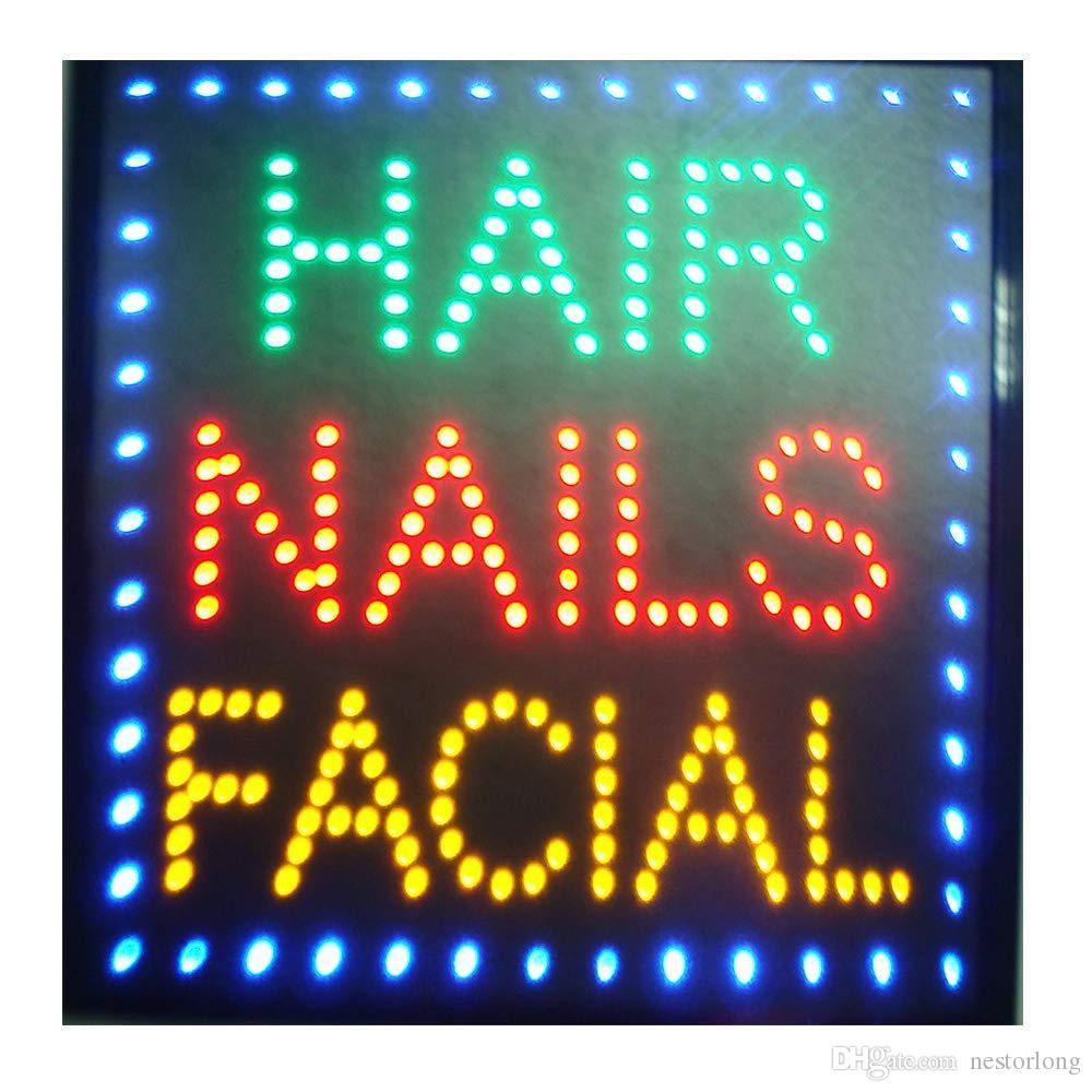 led beauty salon hair salon sign billboard led neon light animated electronic animated led sign 48 X 48CM indoor