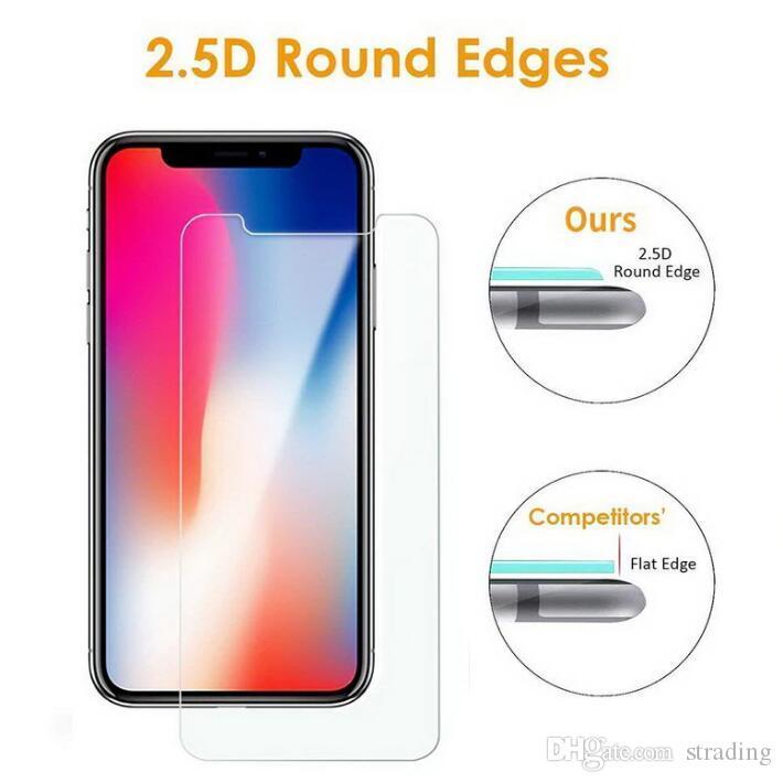 9H 2.5D vidro temperado filme protetor de tela para iPhone 11 Pro Max X Presente de Natal XS XR 8 7 6 6S Além disso,