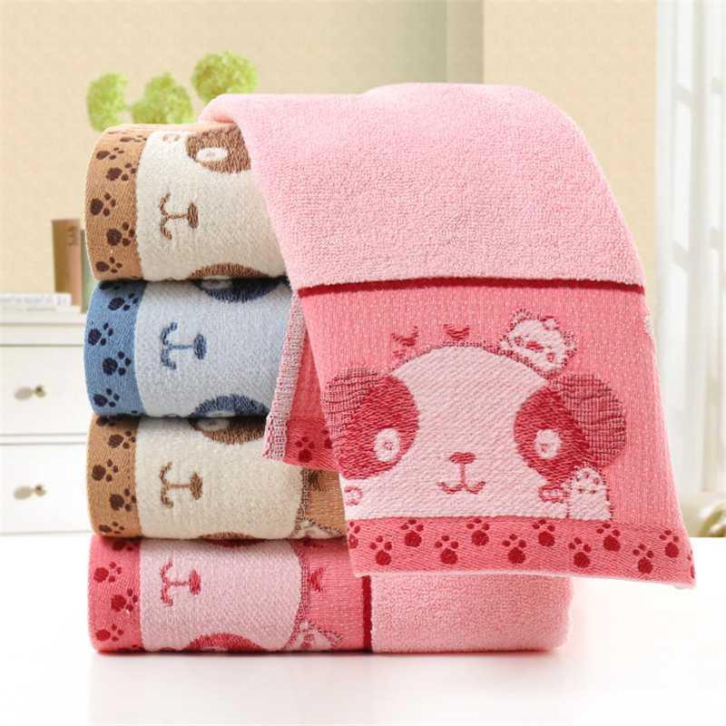 34 * 75cm \ fumetto ricamato Asciugamano orso panno volto di lavaggio manuale della famiglia di Bagno Giallo Rosa Blu washcloth Asciugamani