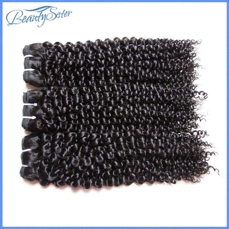 Ham bakire işlenmemiş desteler 10a Brezilyalı sapıkça kıvırcık Remy insan saçı 3pieces 300g çok doğal renk 100g / adet örgüleri