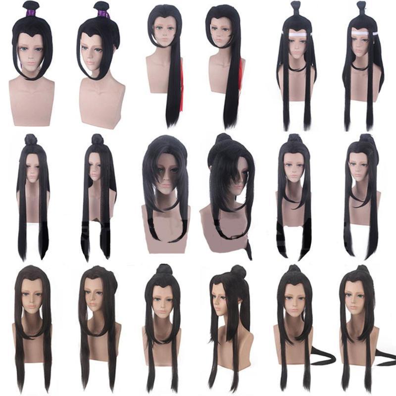 وي Wuxian لان Wangji جيانغتشنغ شعر مستعار تأثيري مو داو زو شي منتديات غراند ماستر للزراعة شيطاني الشعر هالوين الاصطناعية