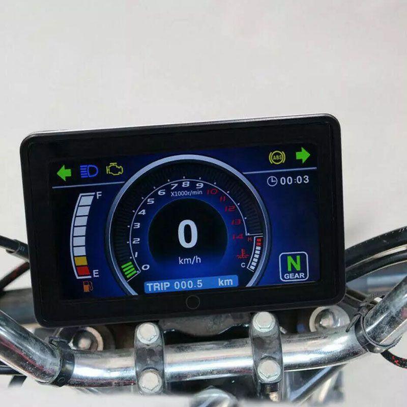 Motocicleta todo color LCD de pantalla multifunción del grupo de instrumentos reemplazable 12V Velocímetro Digital Display Instrucción
