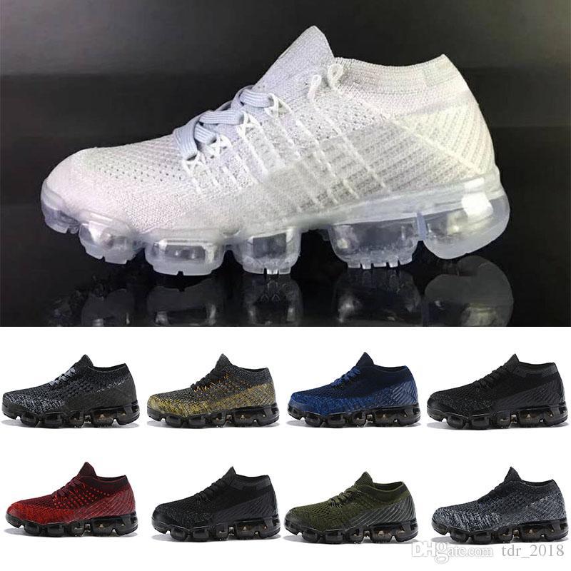 Nike air max 2018 Laceless 2018 Platin Çocuk koşu ayakkabı Gri beyaz Gökkuşağı Bebek Çocuk Spor ayakkabı toddler eğitmen erkek kız sneaker