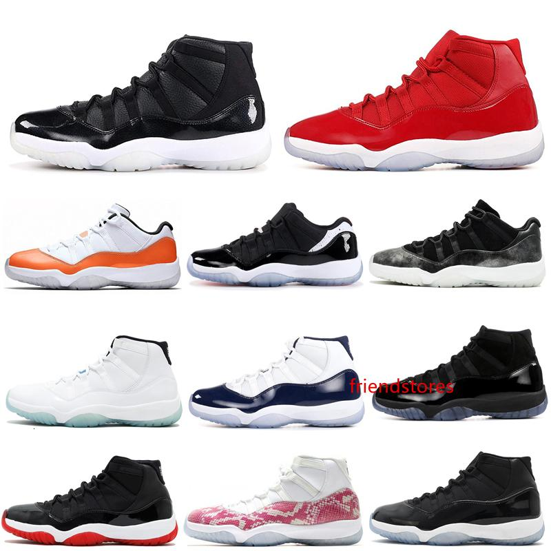 2020 Men Basketball Shoes 11 11s Orange