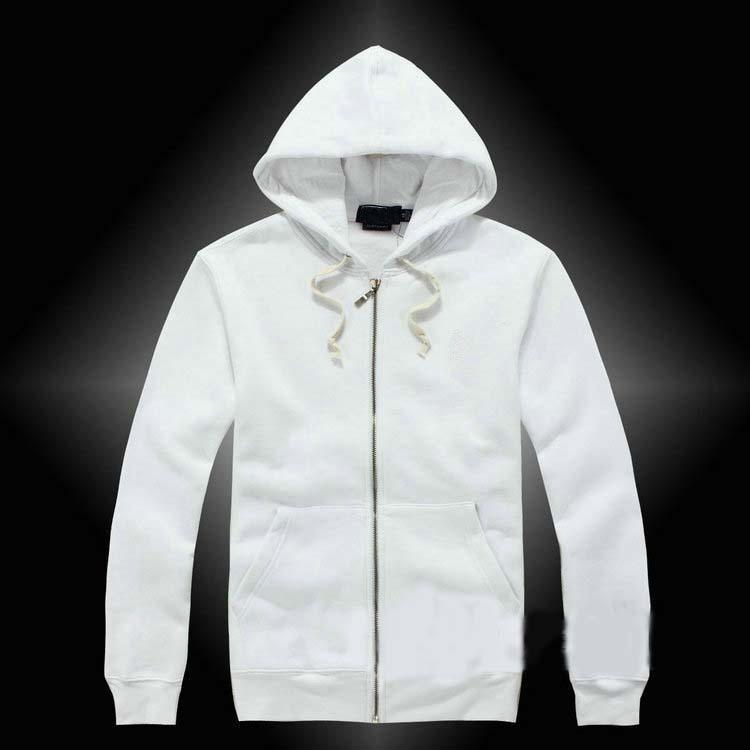lauren ralph polo Ralph lauren 캐주얼 남성의 최고 품질의 무료 배송 지퍼 후드 스포츠 재킷 남성 폴로 재킷 후드와 스웨터 가을 고체 캐주얼